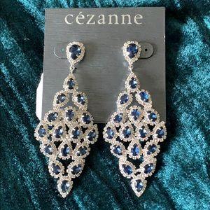 Cezanne Sapphire Drop Crystal Earrings